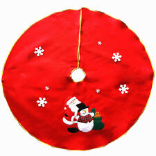 Christmas Tree Stand Skirt Dress Santa Claus Snowman Holiday Party DIY Decor