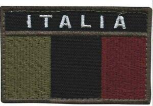Toppa patch italia bassa visibilita' esercito carabinieri bandiera softair