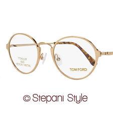 Tom Ford Round Eyeglasses TF5350 028 Size: 48mm Rose Gold/Havana FT5350