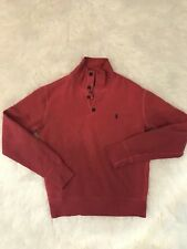 Ralph Lauren Men Sweatshirt Pullover With Buttons Size Small