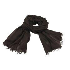 CA' VAGAN bufanda de mujer marrón oscuro 100% cachemir HECHO EN MONGOLIA cm