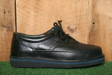 HUSH PUPPIES The Body Shoe 'Mall Walker' Black Leather Oxfords Men's Sz. 10 5E