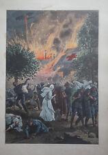E. DAMBLANS (1865/1945)  - WW1 - POSTE DE SECOUR FRANCAIS BOMBARDE