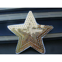 10pcs Sewing Sequins Applique Pentagram Stars Patches Cloth Stickers Ironing