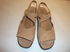 MUNRO AMERICAN PROPER SIZE/PERFECT FIT BROWN SUEDE SLINGBACK SANDALS SZ 11M
