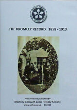 The Bromley (Kent) Record newspaper: 1858-1913    4 x DVD set of scanned images