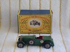 "Matchbox 1/55  Y5-1 ""1929 Le-Mans Bentley"" "" Green #5 in It's original box."
