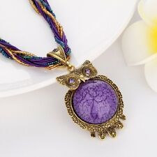 Hot Elegant style Link Women Necklace owl Pendant Resin Chain Fashion Jewelry