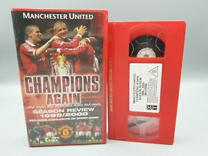 Manchester United Champions Again season review 1999/2000 vhs tape