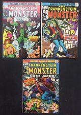 Frankenstein Comics (Lot of 3) Vintage 1974