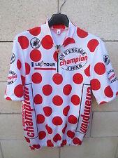 VINTAGE Maillot cycliste à POIS CASTELLI Shirt Tour de France 1993 ROMINGER XL