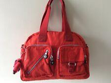 KIPLING ladies red tote handbag with CAMILLE monkey
