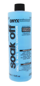 Onyx Professional Soak Off Gel and Nail Coating Remover, 16 oz. bottle