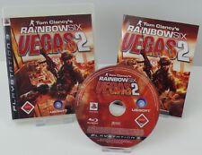 PS3 Playstation 3 - Rainbow Six Vegas 2 + Ghost Recon 2 Avanced Warfighter