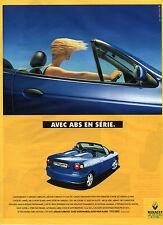 Publicité Advertising 1998  RENAULT MEGANE CABRIOLET