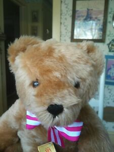 Very Large mohair German Hermann Teddy Original Teddy Bear 18in EUC
