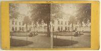 Giardino Un Ospedale Monastero Foto Stereo Vintage Albumina C 1875