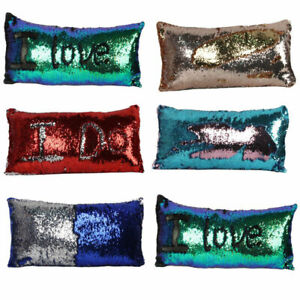 Fashion Reversible Mermaid Pillow Sequin Cover Glitter CaseHome Decor Decors