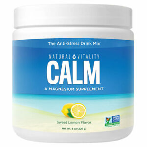 Natural Calm - 8 oz (Sweet Lemon) FRESH, FREE SHIPPING, MADE IN USA