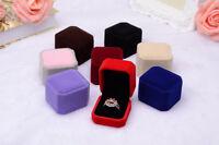 Velvet Jewellery Earring Ring Box Engagement Wedding Ring Pendant Display Box