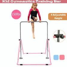 Indoor Gymnastics Horizontal Bar Kids Training Bar Equipment Sports Folding US.