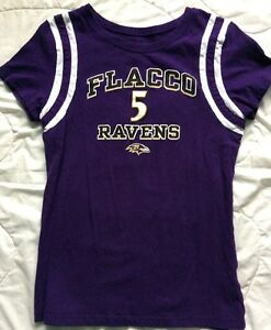 NFL Team Apparel Baltimore Raven Joe Flacco #5 Women's Medium Shirt