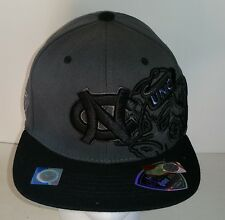 North Carolina Tar Heels Gray and Black NCAA Top of the World One Fit Hat NEW