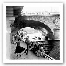 PHOTOGRAPHY ART PRINT Rock 'n' Roll sur les Quais de Paris Paul Almasy