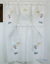 Chef Jacquard Kitchen Curtain with Swag and Tier Set 36 in