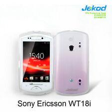 Jekod white TPU gel silicone case cover+screen protector for Sony Ericsson WT18i