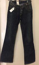 Lee Leola Damen Jeans W30 L33  Bootcut Slim Fit X-Low Waist blau