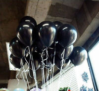 "Lot 20/50/100Pcs 10"" Black Latex Round Balloons Wedding Birthday Party Decor"