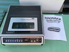 RARE Vtg Magnavox VH8200BR01 2/4 Hour Video Cassette Recorder VHS VCR No Batter