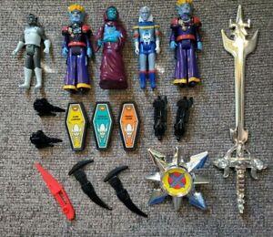 """Vintage Voltron Figure Shield 10"""" Sword Accessory Panosh Place World Events Lot"""