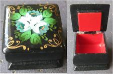 mini boite chinoise peinte à la main 3 x 3 cm