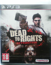 DEAD TO RIGHTS RETRIBUTION. JUEGO PARA PS3 PLAYSTATION 3. NUEVO, PRECINTADO.