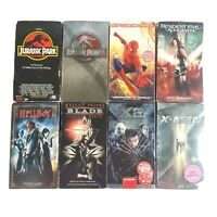VHS Tapes Lot of 8, Hellboy Blade Jurassic Park 1 and 3 X-men X-2 Resident Evil