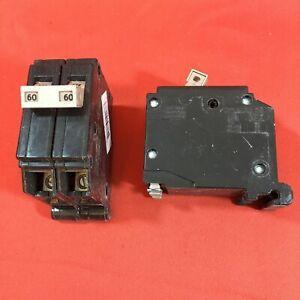Cutler Hammer CH260 60 Amp 2 Pole Circuit Breaker CH Metal Feet 120/240VAC
