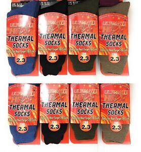 1 ,2 ,3 Men Ultimate Thick Hot Winter Warm Thermal Socks 2.3 TOG Ultimate Heat