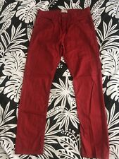 New listing Zara Boys Red Pants 13/14 Christmas Pictures Holiday Adjustable Waist