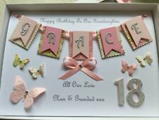 Handmade Personalised Boxed Card Birthday 1st 16 18 21 30 Daughter Sister Wife