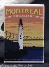 "Montreal Quebec Vintage Travel Poster 2"" X 3"" Fridge / Locker Magnet. Canada"