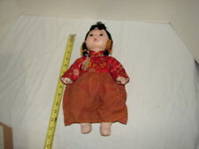 VINTAGE ORIENTAL ASIAN CHINESE 13 INCH DOLL COMPOSITION PARTS TRADITIONAL DRESS