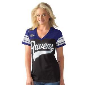 Baltimore Ravens Women's G-III Pass Rush Jersey Top Foil Accents 048