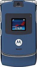 BLUE MOTOROLA RAZR V3 UNLOCKED MOBILE WIRELESS CELL PHONE FIDO ROGERS CHATR CUBA