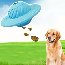 Pet Dog Chew Toy Food Dispenser UFO Rubber Ball Bite-Resistant Clean Teeth New