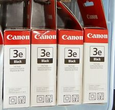 Canon 3e Black Ink Cartridges Genuine Canon Unopened Box Full Size **SET OF 4**