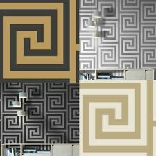 Debona Athena Greek Key Metallic Glitter Wallpaper 4 Colours