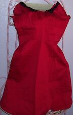 PINUP COUTURE RED BLACK PETER PAN COLLAR RETRO ROCKABILLY SWING DRESS XL
