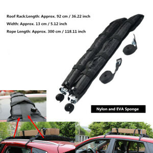 2PCS Car Roof Rack Soft Self Inflatable Luggage Carrier w/Rope Universal Durable